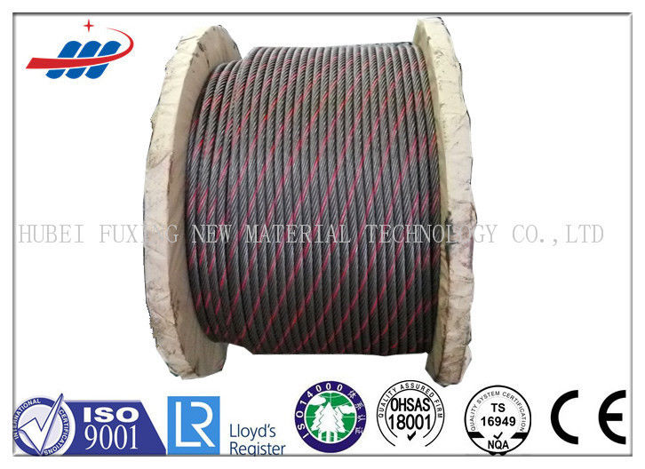 Painted Color Crane Wire Rope Hight Carbon For Loading / Unloading